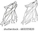 geometric wolf | Shutterstock .eps vector #683355820