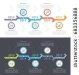 timeline infographics template... | Shutterstock .eps vector #683356888