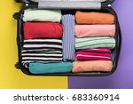 packing a luggage or suitcase... | Shutterstock . vector #683360914