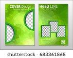 a set of brochures from green... | Shutterstock .eps vector #683361868
