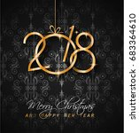 2018 happy new year background... | Shutterstock . vector #683364610