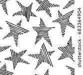 hand drawn grunge seamless... | Shutterstock .eps vector #683364904