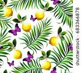 seamless topical vector pattern ... | Shutterstock .eps vector #683366878