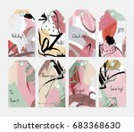 hand drawn creative tags.... | Shutterstock .eps vector #683368630