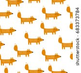 seamless vector background with ... | Shutterstock .eps vector #683373784