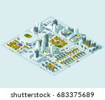 vector isometric info graphic... | Shutterstock .eps vector #683375689