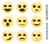 laughing  smiling emoticon icon.... | Shutterstock .eps vector #683380240