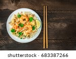 an overhead photo of a shrimp... | Shutterstock . vector #683387266