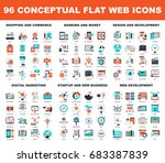 collection of conceptual flat... | Shutterstock .eps vector #683387839