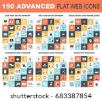 collection of advanced flat web ... | Shutterstock .eps vector #683387854