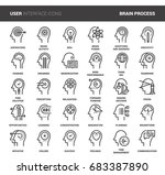 vector set of thinking and... | Shutterstock .eps vector #683387890
