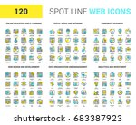 vector set of 120 spot line web ... | Shutterstock .eps vector #683387923