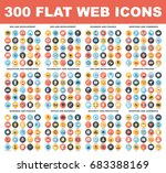 300 flat web icons   seo and... | Shutterstock .eps vector #683388169