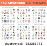 collection of advanced flat web ... | Shutterstock .eps vector #683388793