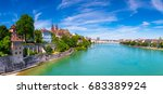 view of the old town of basel... | Shutterstock . vector #683389924