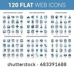 vector set of 120 flat web... | Shutterstock .eps vector #683391688
