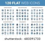 vector set of 120 flat web... | Shutterstock .eps vector #683391733