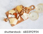 Cheese Plate Served With White...