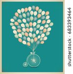 raster copy vintage greeting... | Shutterstock . vector #683393464