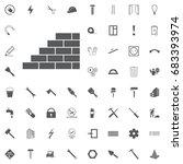 bricks  icon  vector... | Shutterstock .eps vector #683393974