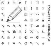 pencil icon vector. isolated on ... | Shutterstock .eps vector #683394028