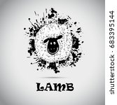 blot sheep. vector | Shutterstock .eps vector #683395144