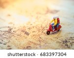 travel concept. group of... | Shutterstock . vector #683397304