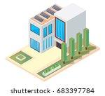 modern luxury isometric green... | Shutterstock .eps vector #683397784