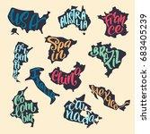 handwritten lettering with... | Shutterstock .eps vector #683405239