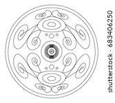 mandalas for coloring book.... | Shutterstock .eps vector #683406250