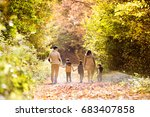 beautiful young family on a... | Shutterstock . vector #683407858
