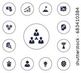 set of 13 idea icons set... | Shutterstock .eps vector #683410384