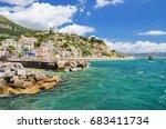vietri sul mare  italy   august ... | Shutterstock . vector #683411734