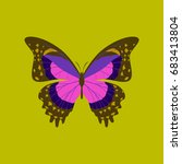 colorful icon of butterfly... | Shutterstock .eps vector #683413804