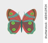 colorful icon of butterfly... | Shutterstock .eps vector #683413924