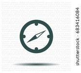 compass flat icon. vector... | Shutterstock .eps vector #683416084