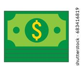 bundle of money flat icon ... | Shutterstock .eps vector #683416819