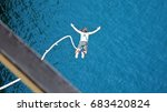 bungee jumping in the channel... | Shutterstock . vector #683420824