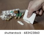 cocaine or other drugs cut with ... | Shutterstock . vector #683423860
