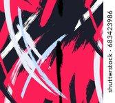 minimalist vector pattern in... | Shutterstock .eps vector #683423986