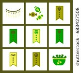 assembly flat icons halloween... | Shutterstock .eps vector #683427508