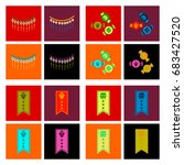assembly flat icons halloween... | Shutterstock .eps vector #683427520