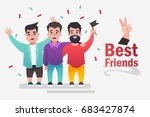 best friends. vector... | Shutterstock .eps vector #683427874