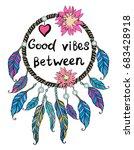 good vibes between. feminine...   Shutterstock .eps vector #683428918