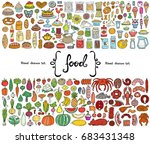 vector set with hand drawn... | Shutterstock .eps vector #683431348