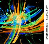 abstract watercolor texture....   Shutterstock . vector #683435194