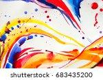 abstract watercolor texture.... | Shutterstock . vector #683435200