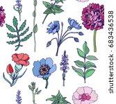 floral seamless pattern.... | Shutterstock .eps vector #683436538