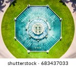 fountain in the center of a...   Shutterstock . vector #683437033