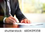 businessman is signing a legal...   Shutterstock . vector #683439358